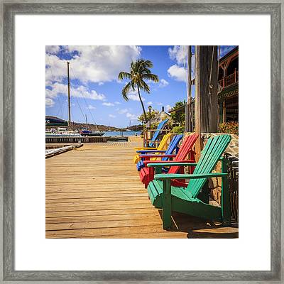 Dockside Lounge Framed Print by Alexey Stiop