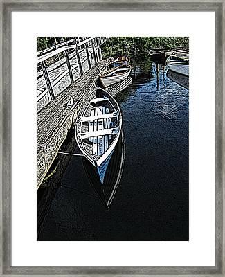 Dockside Quietude Framed Print by Tim Allen