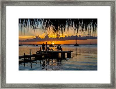 Docktime Framed Print