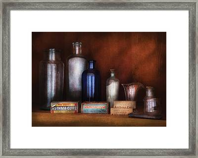 Doctor - Asthma Cures Framed Print by Mike Savad