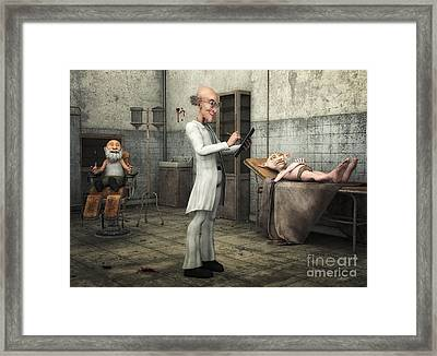 Doctor At Work Framed Print by Jutta Maria Pusl