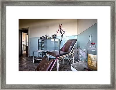 Doctor Chair Awaits Patient - Urbex Framed Print by Dirk Ercken