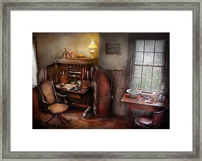 Doctor - In The Doctors Study  Framed Print