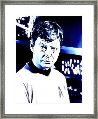 Doctor Leonard Mccoy Star Trek Framed Print by John Springfield