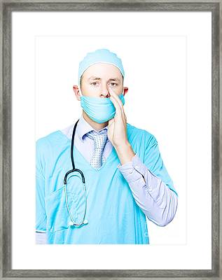 Doctor Making A Health Announcement Framed Print by Jorgo Photography - Wall Art Gallery