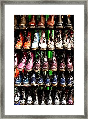 Doctor Martins Foot Emporium Framed Print by Jez C Self