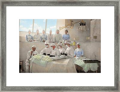 Doctor - Operation Theatre 1905 Framed Print by Mike Savad