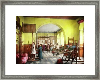 Framed Print featuring the photograph Doctor - Physical Therapist - Welcome To The A Traction 1918 by Mike Savad