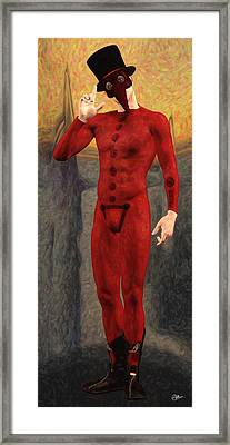 Doctor Red Framed Print by Quim Abella