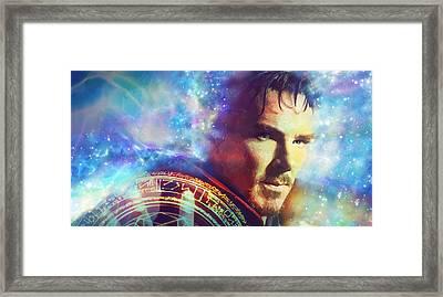 Doctor Strange Framed Print by Elena Kosvincheva