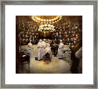 Doctor - Surgeon - Standing Room Only 1902 Framed Print by Mike Savad