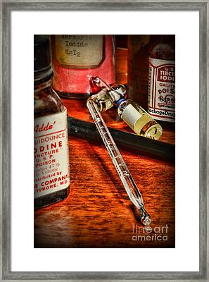 Doctor - The Thermometer Framed Print