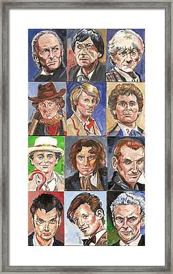Doctor Who 1963 Till 2017 Framed Print