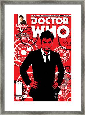 Doctor Who Comic Cover Framed Print