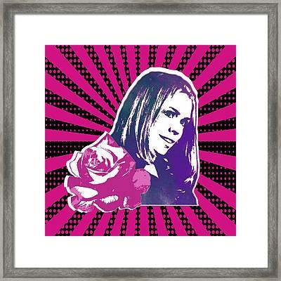 Doctor Who Inspired Rose Tyler Framed Print