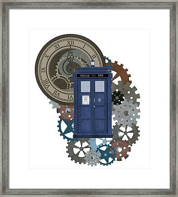 Doctor Who Inspred Time Travel 2 Framed Print by Alondra Hanley