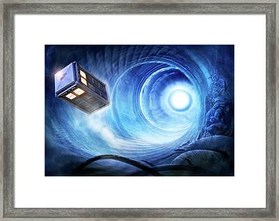 Doctor Who Framed Print by Joe Roberts