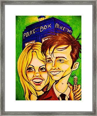 Doctor Who Framed Print by Penny  Elliott