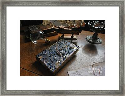 Doctor Who Steampunk Journal  Framed Print