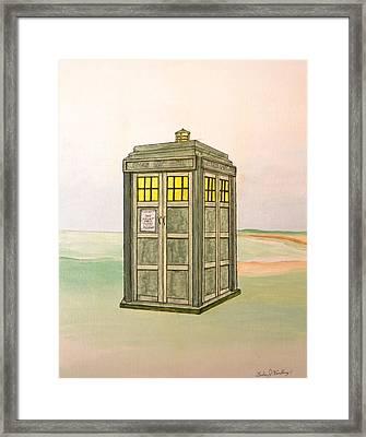 Doctor Who Tardis Framed Print by Gordon Wendling