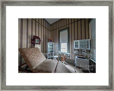 Doctor's Examination Room Framed Print by Inge Johnsson