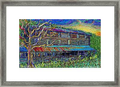 Framed Print featuring the painting Dodds Creek Mill, ,floyd Virginia by Hidden Mountain