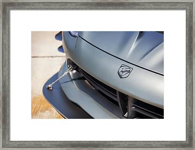 Framed Print featuring the photograph #dodge #acr #viper #print by ItzKirb Photography