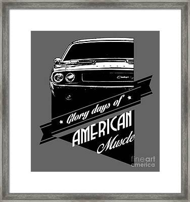Dodge Challenger Muscle Framed Print by Paul Kuras