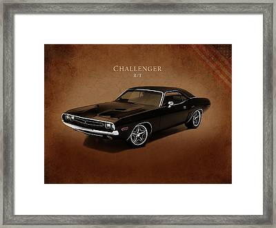 Dodge Challenger Rt Framed Print by Mark Rogan