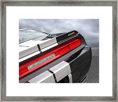 Dodge Challenger Srt Rear Detail Framed Print by Gill Billington