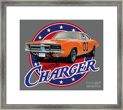 Dodge Charger Framed Print by Paul Kuras