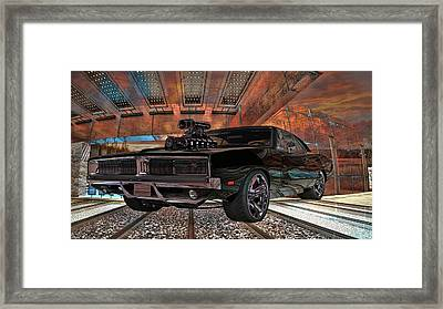 Framed Print featuring the photograph Dodge Charger R/t 1969 Hemi by Louis Ferreira