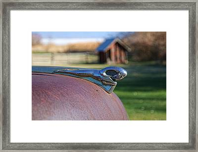 Framed Print featuring the photograph Dodge Emblem by Ely Arsha
