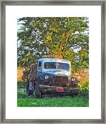 Dodge Hay Hauler Framed Print