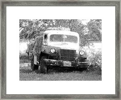 Dodge Hay Hauler Dd Framed Print