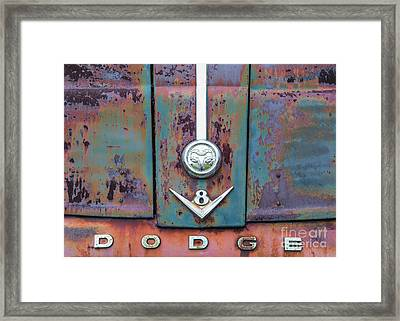 Framed Print featuring the photograph Dodge II by Terry Rowe