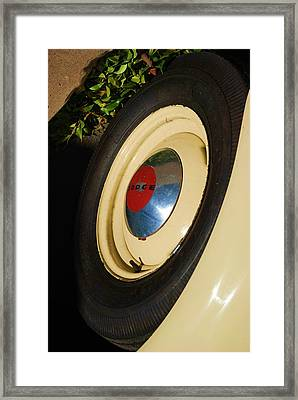 Dodge Tire Framed Print by Rob Hans