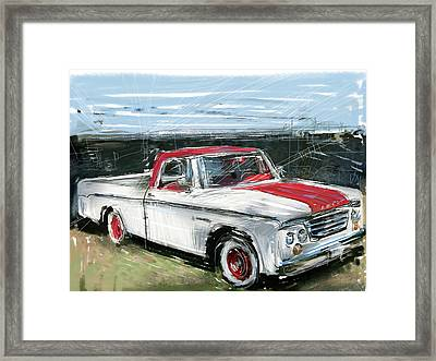 Dodge Truck Framed Print by Russell Pierce