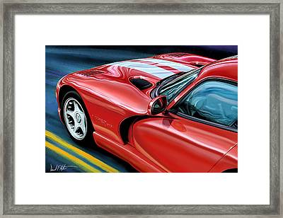 Dodge Viper Coupe Framed Print by David Kyte