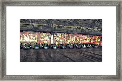 Dodgems Framed Print by Martin Newman