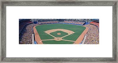 Dodger Stadium, Dodgers V. Astros, Los Framed Print