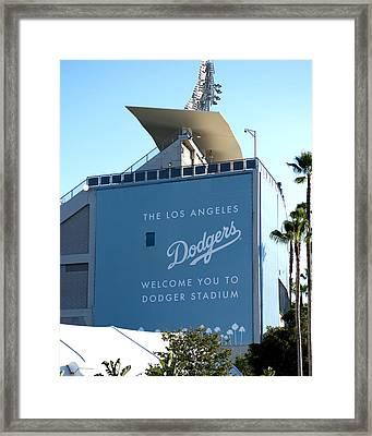 Dodger Stadium Framed Print by Malania Hammer