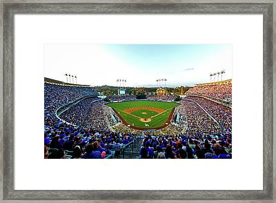 Dodger Stadium Framed Print by Mountain Dreams