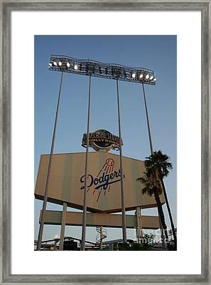 Dodger Stadium Framed Print