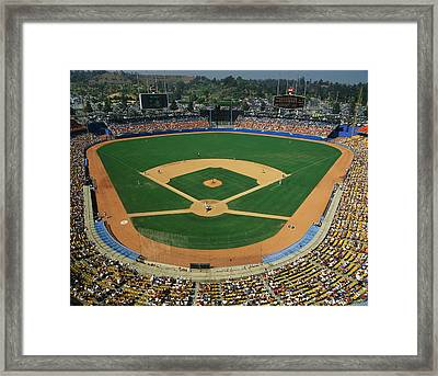 Dodger Stadium Framed Print by Panoramic Images