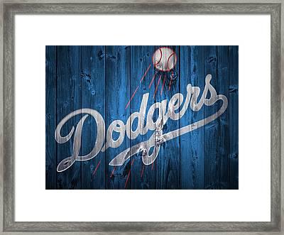 Dodgers Barn Door Framed Print