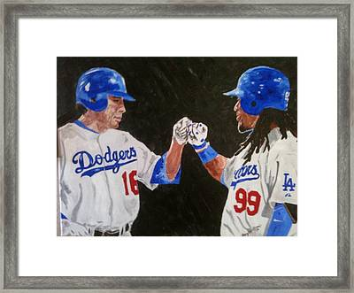 Dodgers Duo Framed Print by Daryl Williams Jr