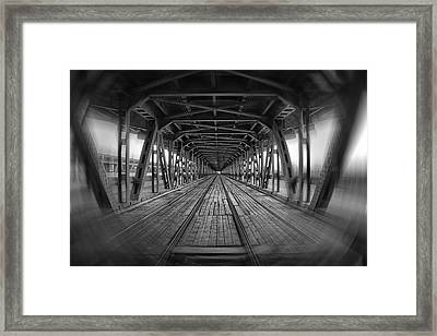 Dodging Trams In Warsaw Poland Framed Print