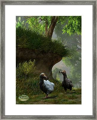 Dodos In The Forest Framed Print