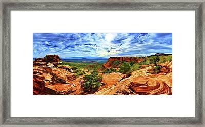 Doe Mountain Vista Framed Print
